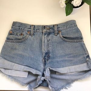 Levi High Waisted Jean Shorts